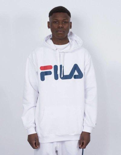 FILA Basic Classic Logo Hood kangaroo White