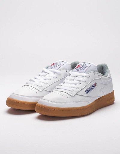 Reebok club c 85 gum white
