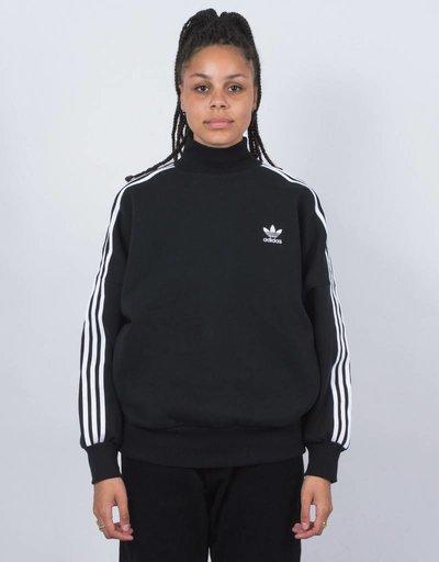 adidas Womens 3 Stripes Turtleneck Black/White
