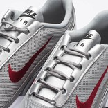 Nike women's air max jewell qs metallic silver/varsity red