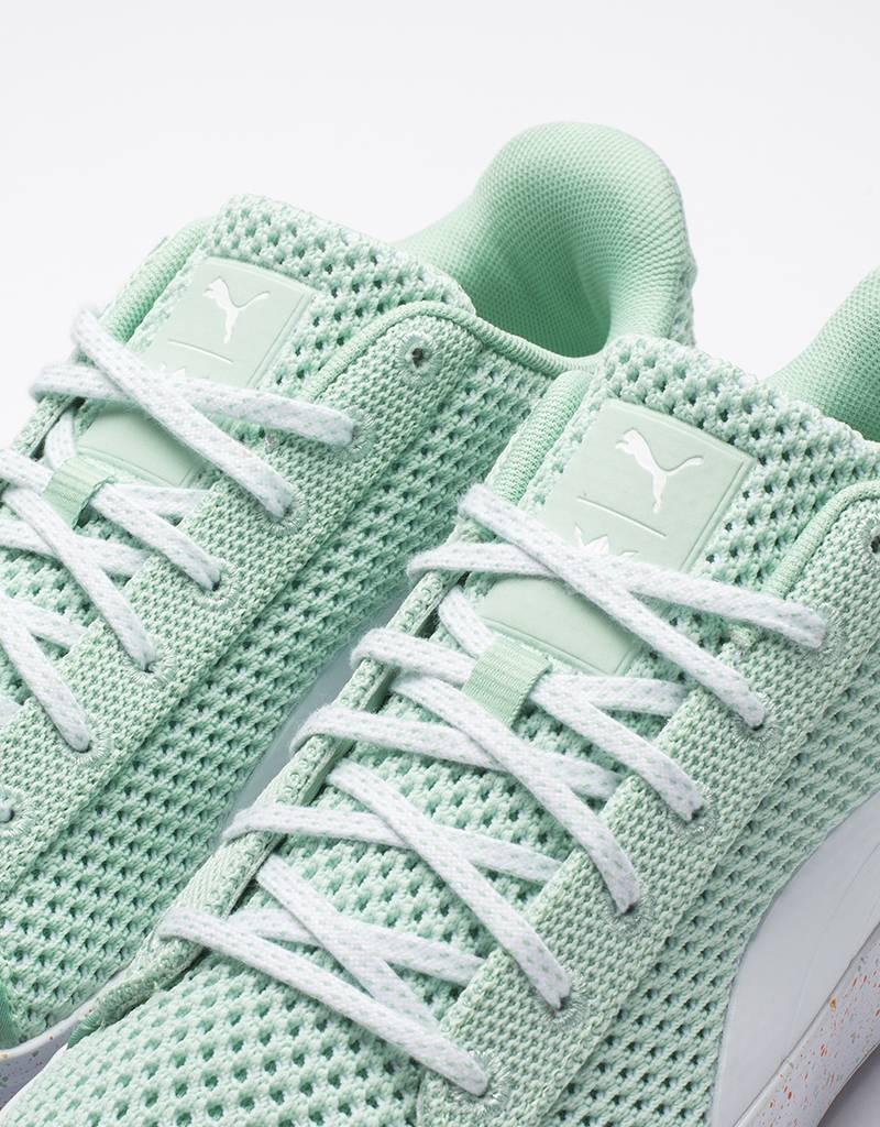 Puma x Daily Paper platform knitslap gossamer/green
