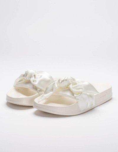 Puma Womens Fenty Bow Slide Marshmallow/Silver
