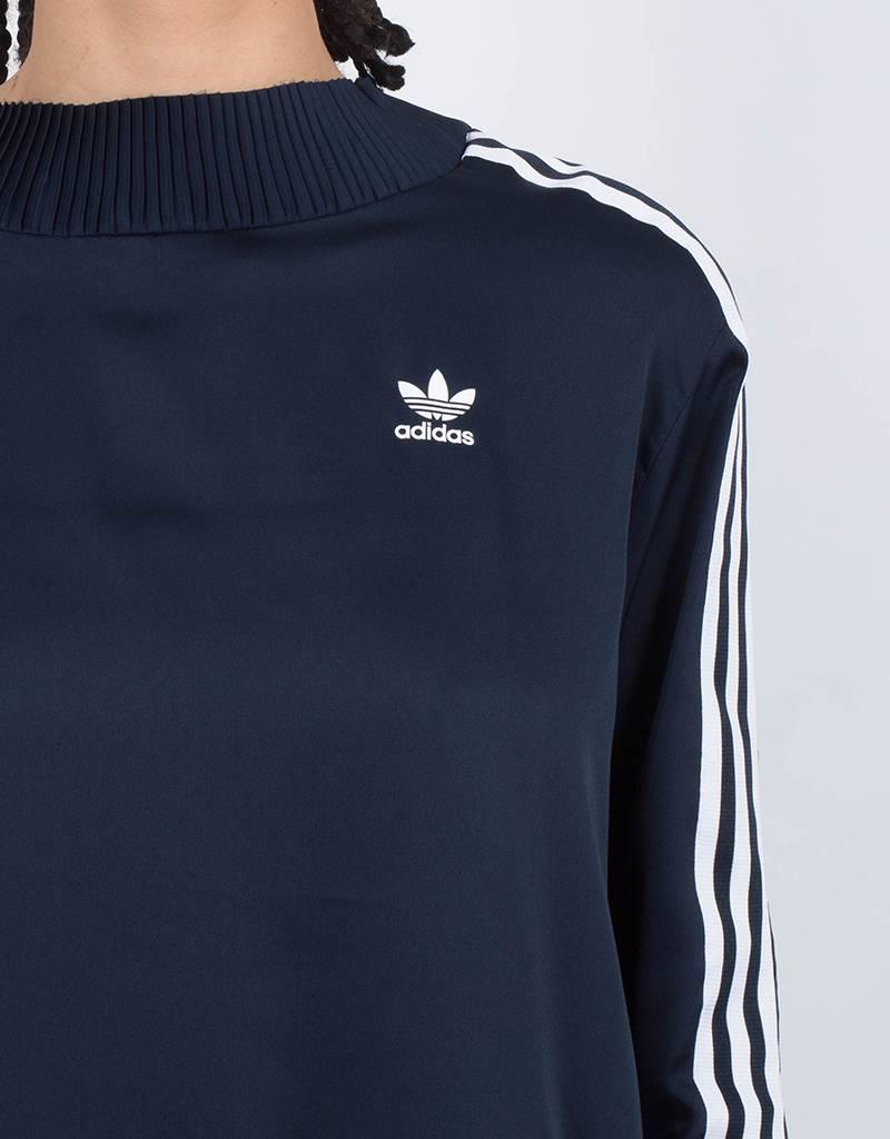 adidas Womens 3 Stripe Sweater Blue