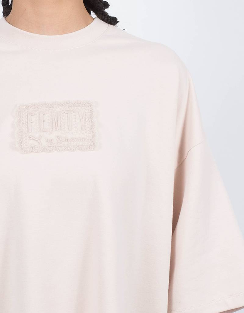 Puma Fenty Oversized Crew Neck Tshirt Pink Tint