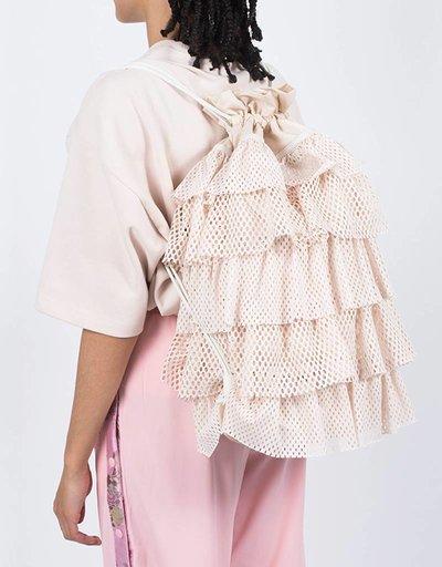 Fenty Layered Drawstring Backpack Pink Tint