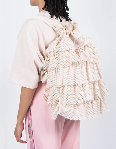 Puma Fenty Layered Drawstring Backpack Pink Tint