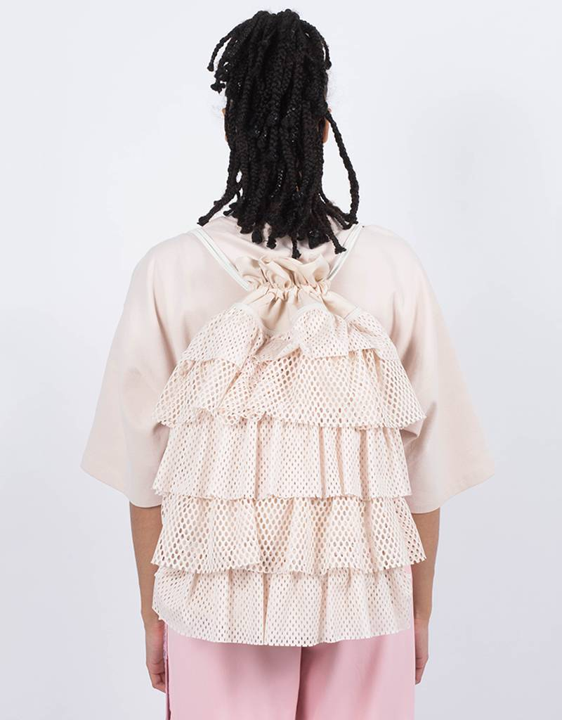 Fenty Layered Drawstring Backpack Pink Tint