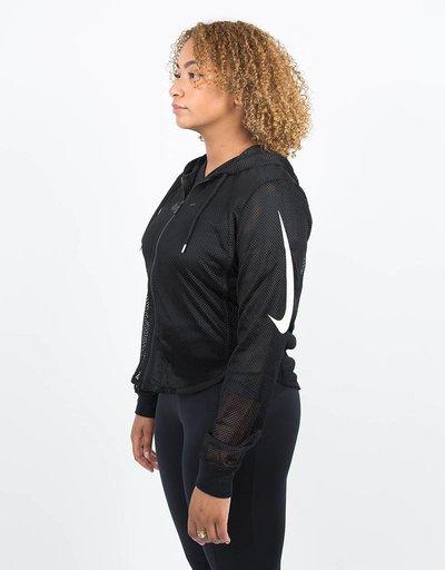 Nike Womens NSW Hoodie FZ Cropped Swoosh Black/White