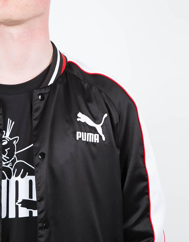 Super Puma Satin Bomber Black