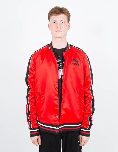 Puma Super Puma Satin Bomber Red