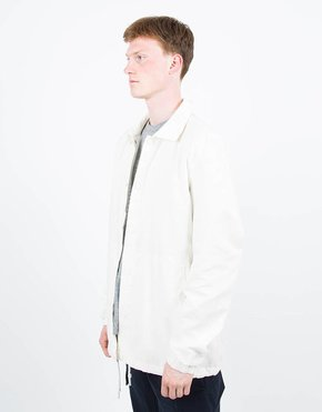 Adidas adidas Originals Statement x Wings & Horns Linen Coach Jacket Off White