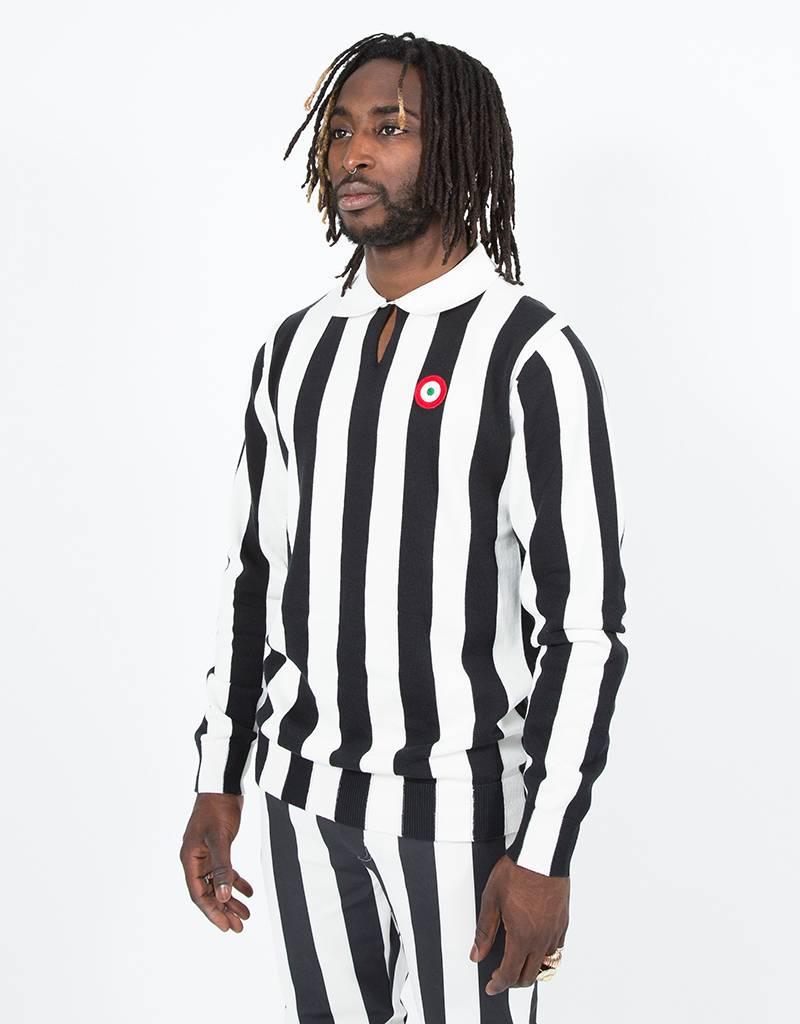 Kappa Authentic Stripes Pull Over White/Black