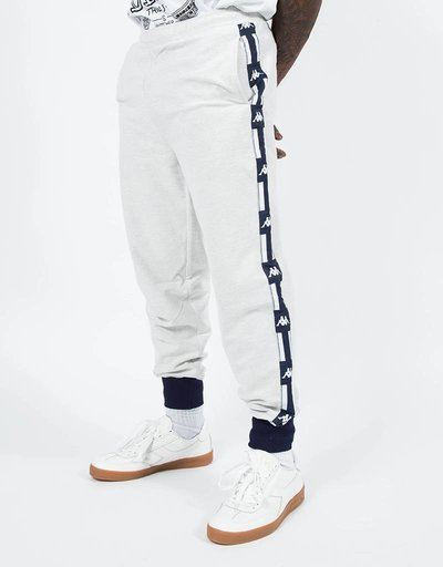 Kappa LA French Terry Reverse Pants Light Grey Melange
