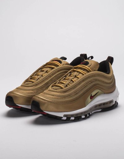 Nike Womens air max 97 OG qs Metallic Gold/Red