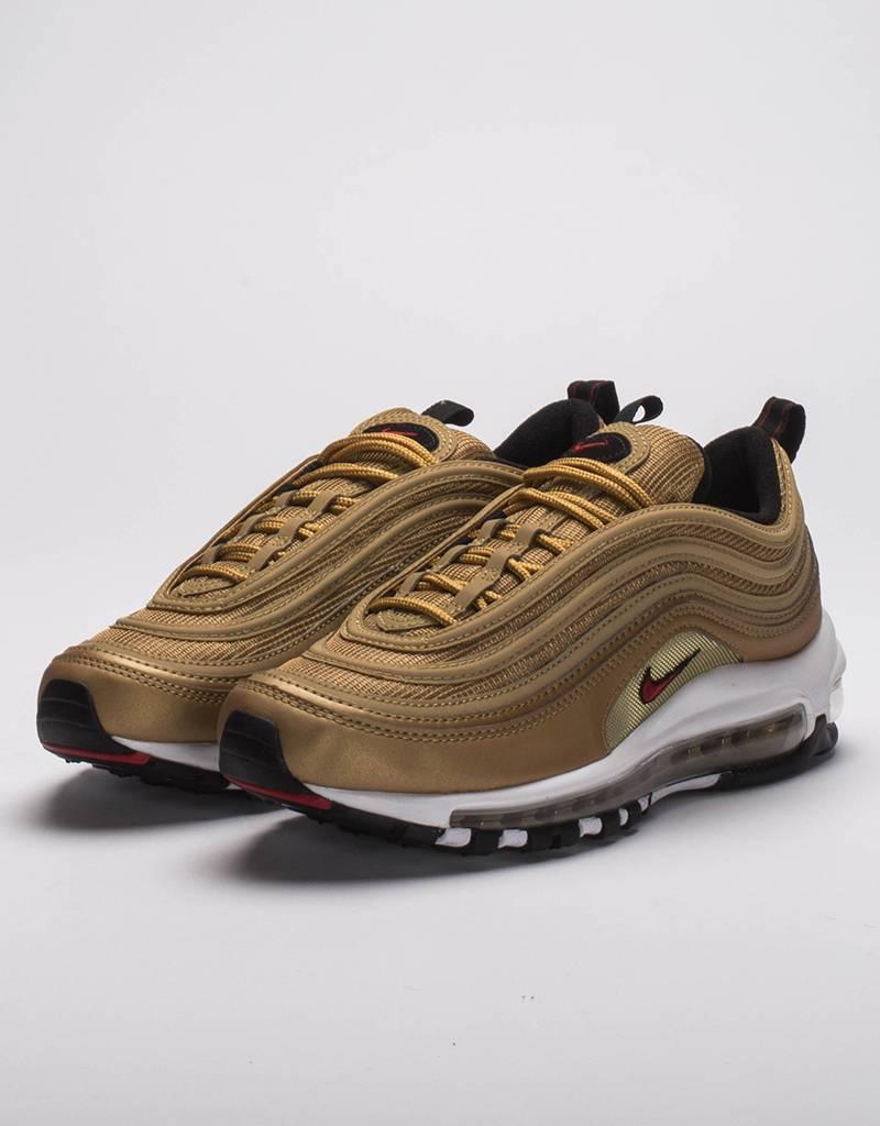 Nike Womens air max 97 OG qs Metallic Gold/Red