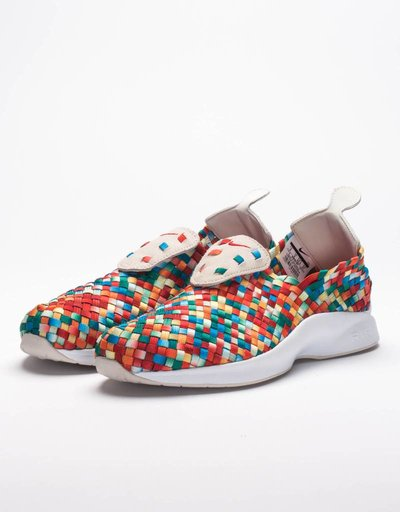 Nike air woven premium light bone/university red-team orange