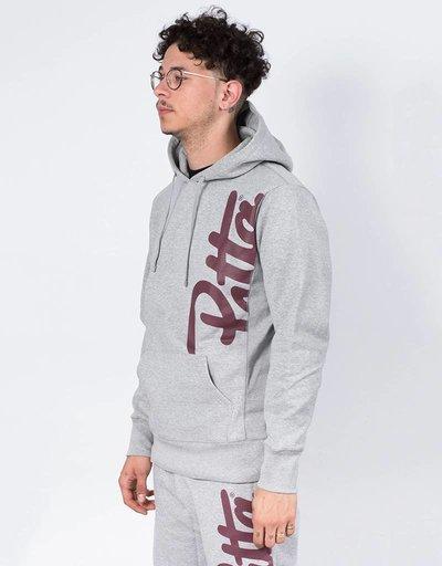Patta Made script hoodie melange grey