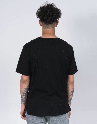 Stampd distressed voir tee black