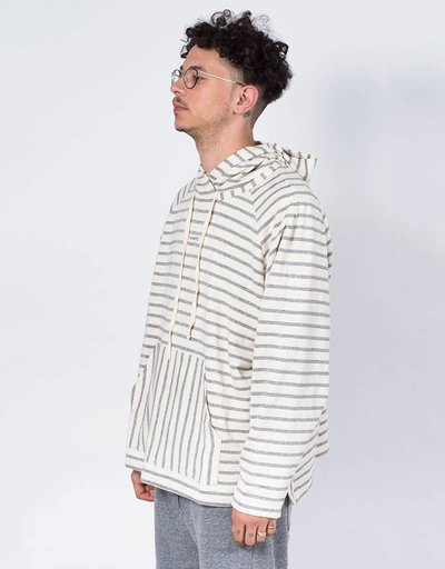 Stampd Vintage Terry Raglan Sweater Off White Stripe