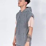 Stampd Vintage Terry Muscle Hood Heather Grey