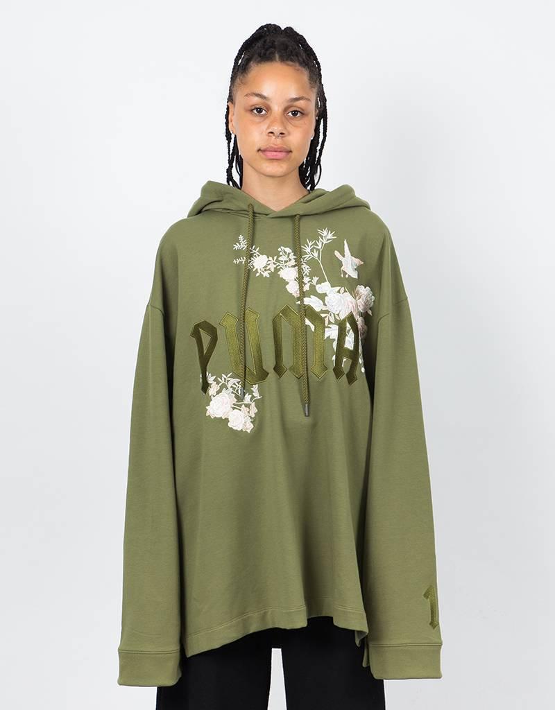 Puma Fenty Longsleeve Graphic Hoodie Olive Branch