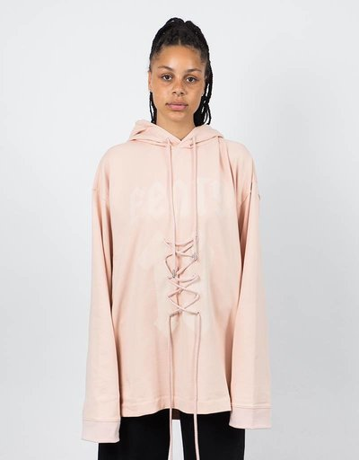 Puma Fenty Longsleeve Graphic Front Lacing  hoodie Cameo Rose