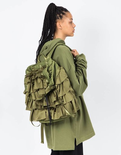 Puma Fenty Layered Drawstring Backpack Olive Branch