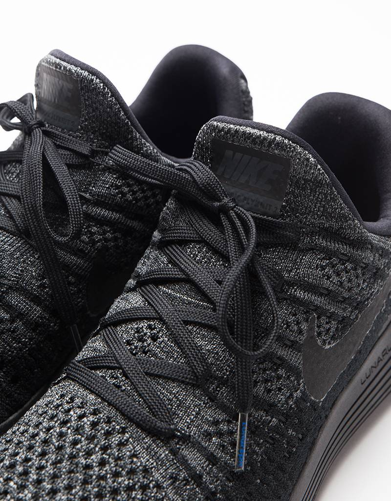 Nike Lunarepic Low Flyknit 2 Black/Black-Dark Grey Racer-Blue