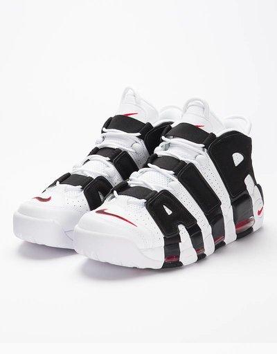 Nike Air More Uptempo White/Black/University Red