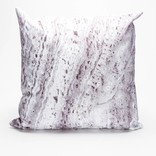Stampd grey stone bark pillow
