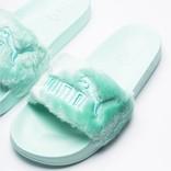 Puma X Fenty Fur Slide women's Bay/Puma Silver