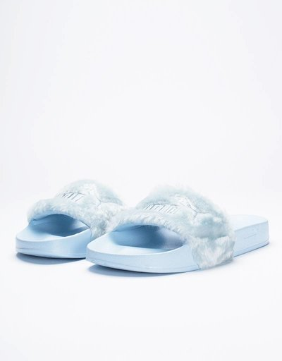 Puma X Fenty Fur Slide women's Cool Blue/Puma Silver