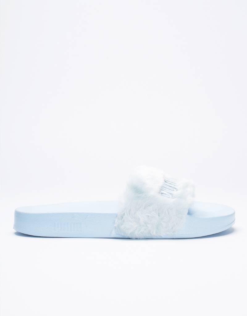 Puma X Fenty Fur Slide women's Cool Blue/Puma Silver