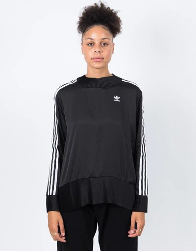 Adidas 3 Stripe Sweater Black
