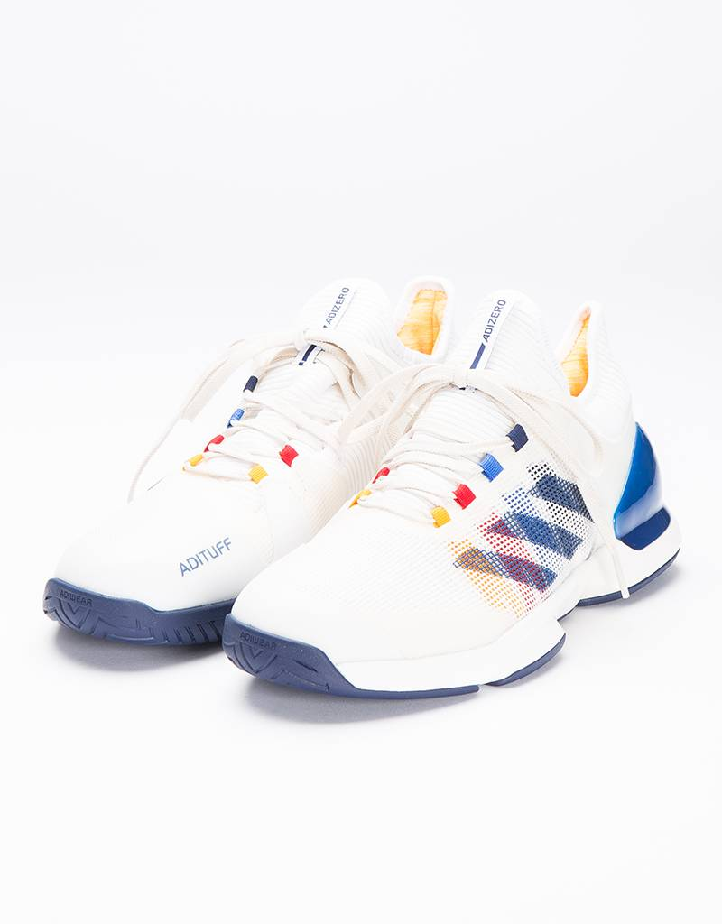 Adidas Consortium X Pharell Williams Adizero Ubersonic 2 Chalk White/Dark Blue/Scarlet