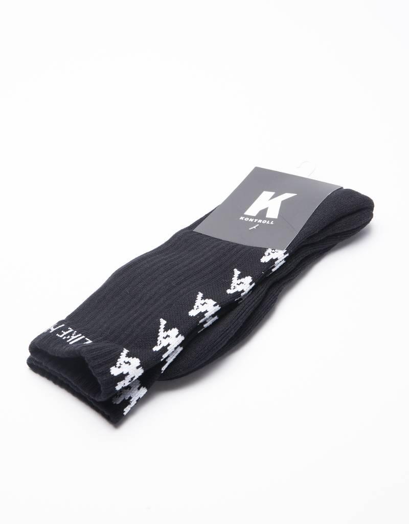 Kappa Kontroll Banda Socks Black White