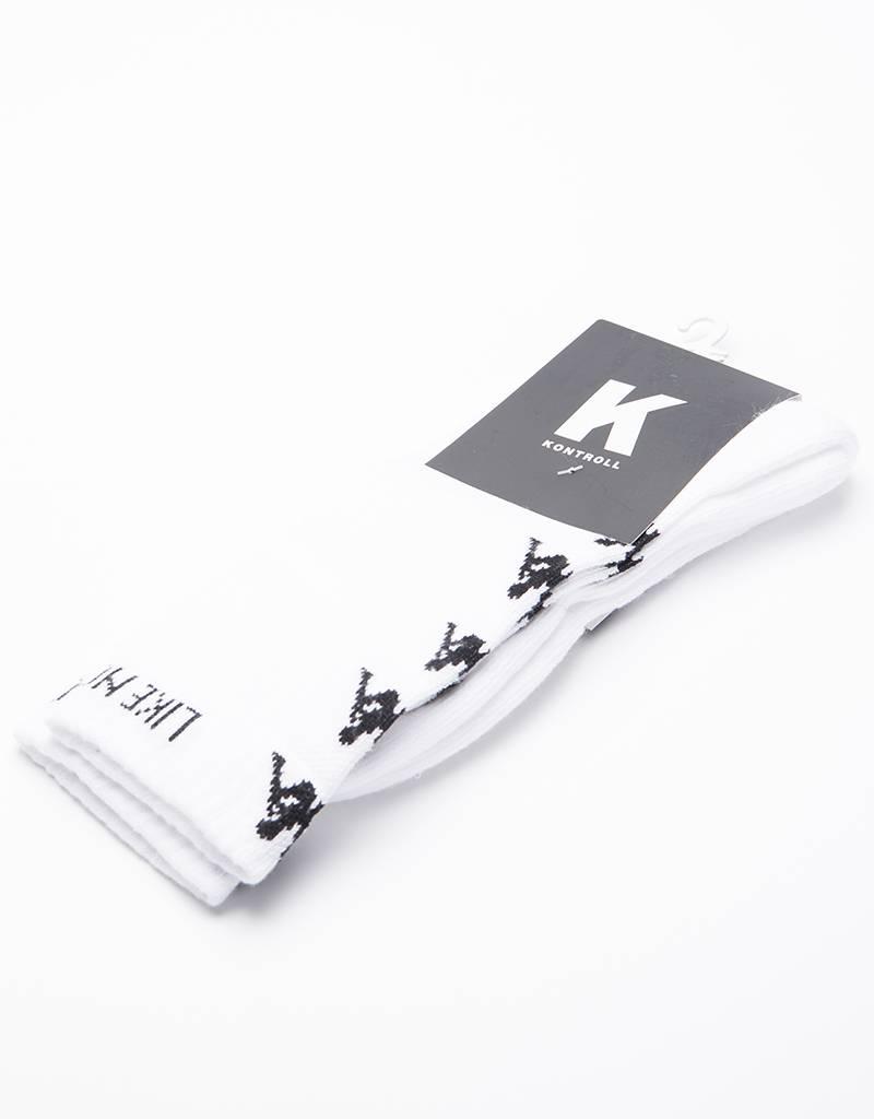 Kappa Kontroll Banda Socks White Black