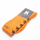 Kappa Kontroll Banda Socks Orange Rust Black