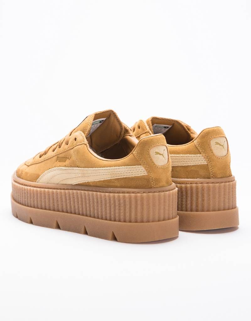 Puma Fenty Womens Cleated Creeper Suede Golden Brown/Lark
