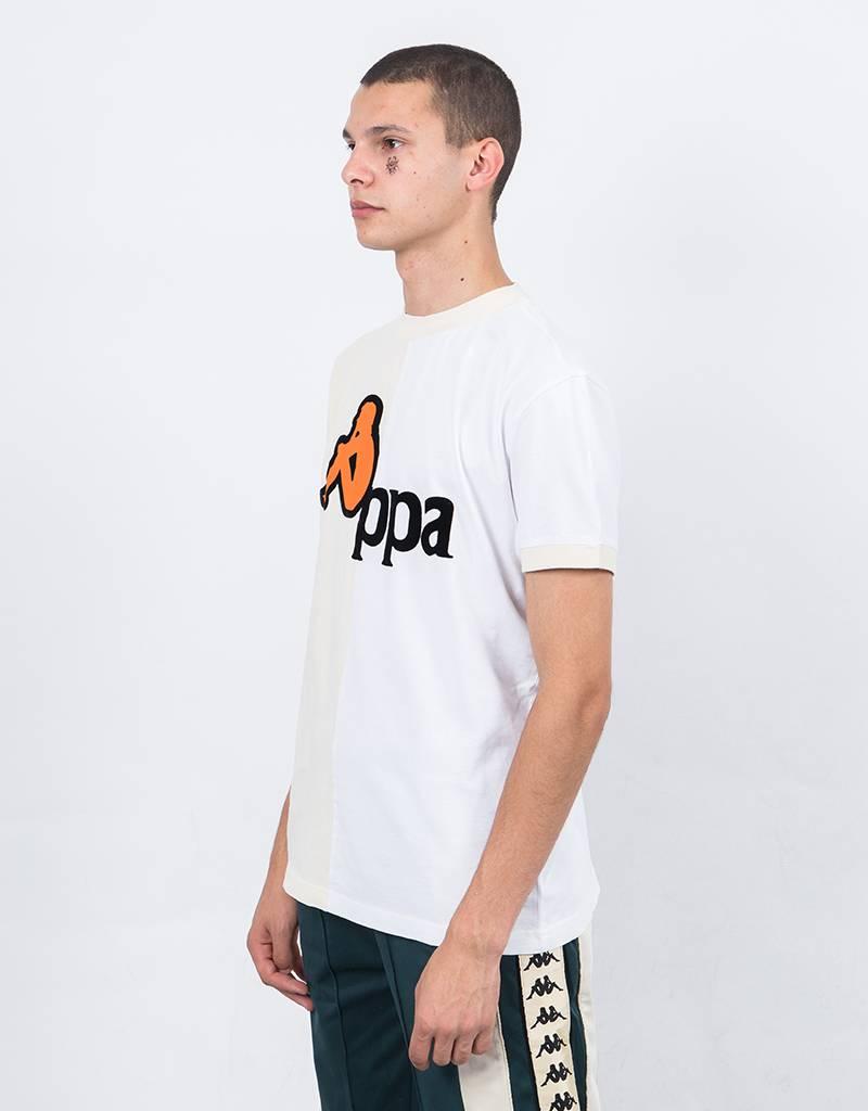 Kappa Kontroll half print tee white/beige it