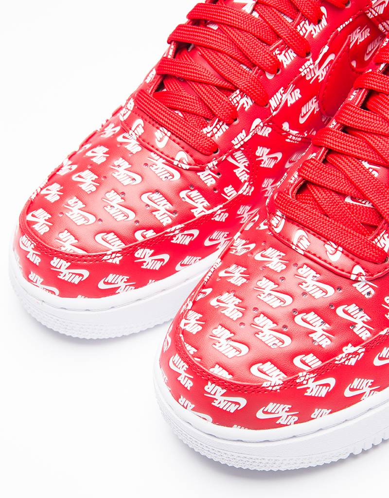 Nike Air Force 1 '07 QS All Over University Red/White
