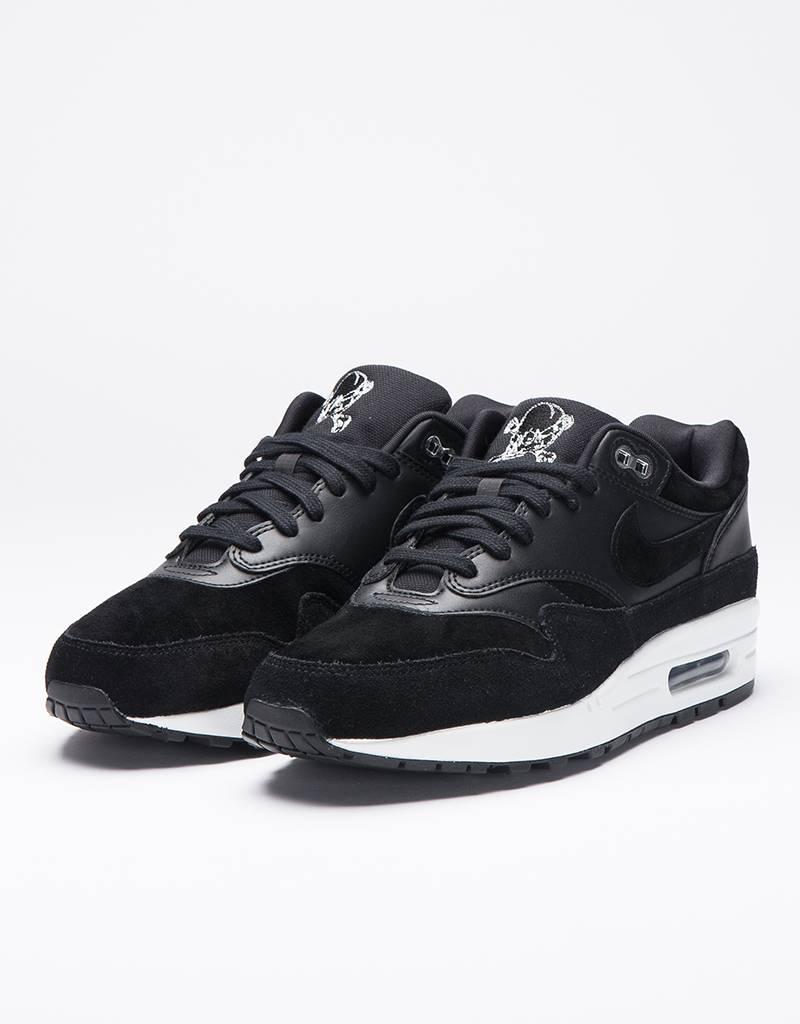 """Nike Air Max 1 PRM """"Skull Pack"""" Black/Chrome/Off White"""