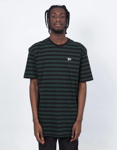 Patta Striped Allover T-shirt Black/Scarab