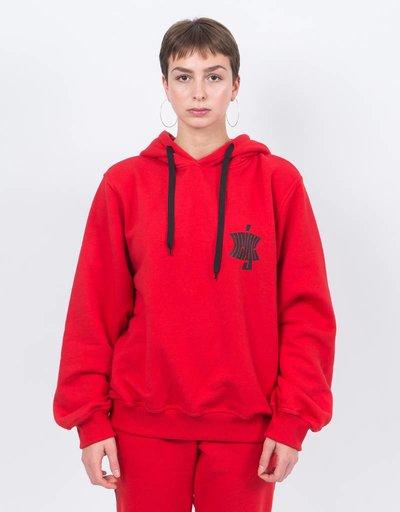 NEIGE Logo hoodie red