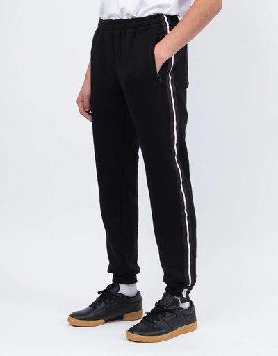 NEIGE Striped Sweatpants Black
