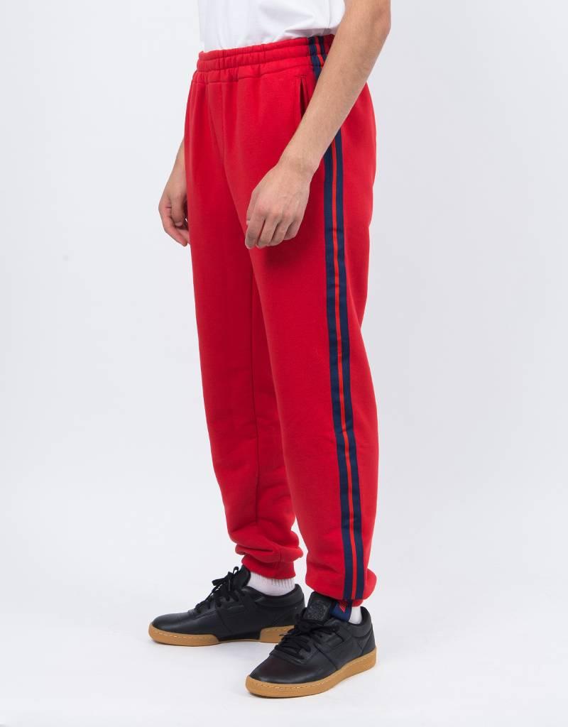 NEIGE Striped Sweatpants Red