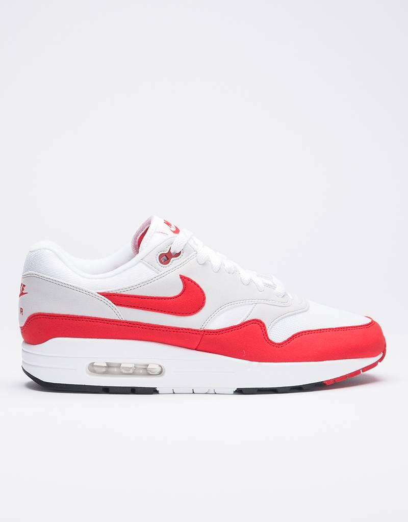Nike Air max 1 anniversary white/university red-neutral grey-black