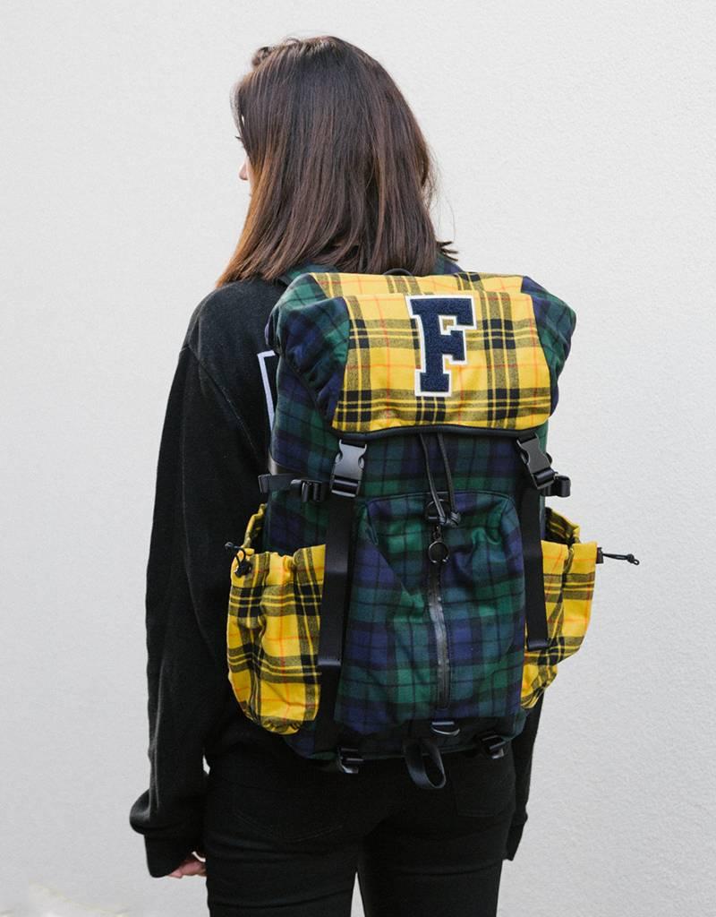 PUMA x FENTY Hike Backpack Evening Blue-Lemon-Plaid