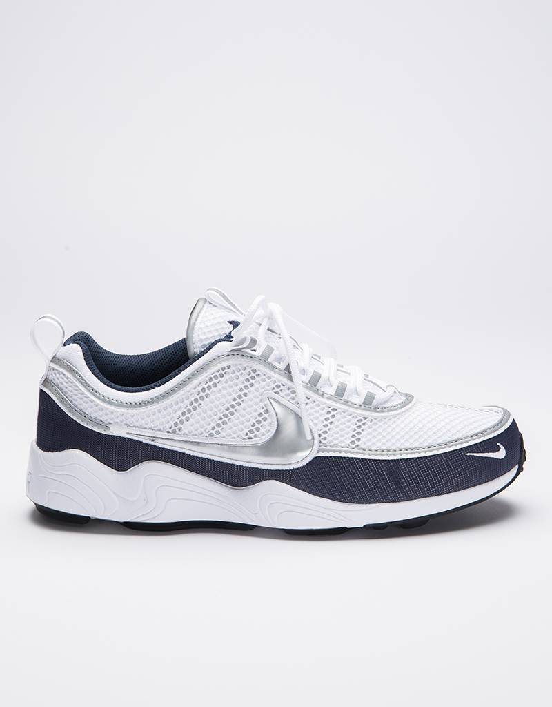 Nike Air Zoom Spiridon '16 White/Metallic Silver - Armory Navy - Black