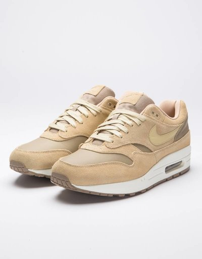 Nike Air Max 1 Premium LeatherKhaki/team gold-mushroom-sail